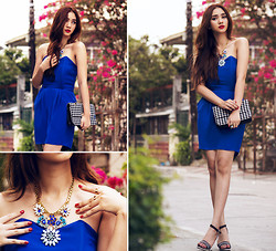 Aileen Belmonte - Apple In Eye Necklace, In Love With Fashion Dress - Sapphire