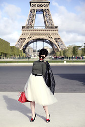 Keiko Lynn - Alexandra Grecco Tulle Skirt, Ban.Do Shoe Clips, Seychelles Heels, Coach Borough Bag - American Girl in Paris