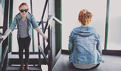 Barbora H. - Mothers Denim Jacket, H&M Top, Ray Ban Sunglasses, Bata Shoes - This is the way