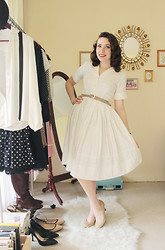Samantha Kreeger - Vintage/Thrifted Swing Dress - Let Me Be Your Sweetheart