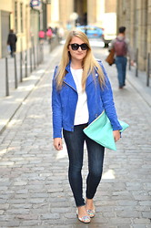 Paris Grenoble - Mango Jacket, H&M Top, American Apparel Clutch, H&M Skinny, Kenzo Ballerina - Third Year
