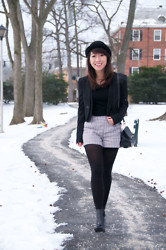 Tracey Wan - Forever 21 Hat, Urban Outfitters Blazer, Piperlime Shorts, Alexander Wang Bag - Tweed Shorts - Blog T.Size Small
