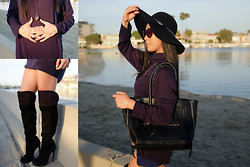 Jane Park - Aldo Black Oversized Bag, Aldo Thigh High Boots - Spellbound