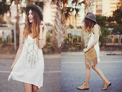 Danielle DeHardt - Rvca Bag, Jawbreaking Dress, Ami Clubwear Boots, Hallelu Boutique Hat - Dream | chaser