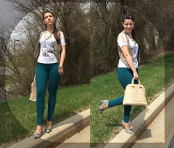 Laura La - Ivanka Trump Purse, Madonna Top, Dkny Jeans - A drop of spring!
