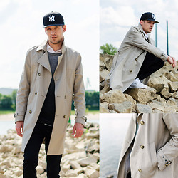 Ben W. - Tiger Of Sweden Trenchcoat, Farah Vintage Pants, V Ave Shoe Repair Sweater - Trenchcoat love