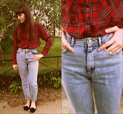 Anastasia M - Pull & Bear Shirt, Bershka Vintage Jeans, Topshop Loafers - Warm days