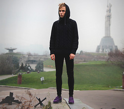 Daniil Shamatrin - Follow My Eyes Sweater, Follow My Eyes Jeans, Dr. Martens Loafers - And Now He Waits