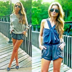 The Pearl Oyster - Swell Race Me Shorts, Zara Shoes, Nasty Gal Sweater - TPO x swell