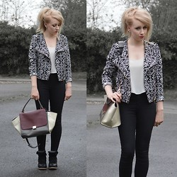 Sammi Jackson - Poppy Lux Aztec Jacket, Oasap Trapeze Bag, Choies Wedged Sneakers - AZTEC JACKET