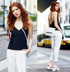 Ebba Zingmark - Frontrowshop Pants, Ivyrevel Top, Vagabond Sandals, Esprit Bag - Come with me tonight