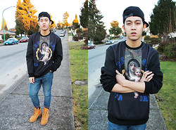 Joseff Lopez (Seffinisto) - Trendiano Madonna (Virgin Mary) Sweater, Topman Drop Crotch Premium Jeans, Timberland Wheat Boots - [CHEYNJ].
