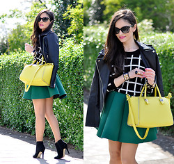 Alba . - Sheinside Jacket, Choies Skirt, Daniel Wellington Watch - ...Green Lima...