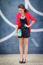 Susana Ares - Zara Jumpsuit, Zara Blazer, Pull & Bear Bag, Stella&Dot Necklace - New post: a busy summer