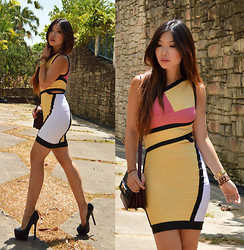 Cassandra Y. Liu - Udobuy Bandage Dress - Color-Block