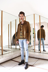 Dustin H. - Sandro Jacket, Zara T Shirt, Cheap Monday Jeans, Saint Laurent Shoes - Mirror mirror
