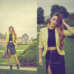 Jessica Wang - Smythe Jacket, Reformation Top, Allsaint Skirt, Rag & Bone Shoes, Hermës Bag - Paris is always a good idea