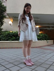 Petite Ca - Miffy X 2% One Piece Dress, Kitterick Jacket, Miffy X 2% Pink Shoes - Hidden miffy