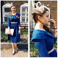 Kseniya Andreeva - Leonid Alexeev Dress, Red Valentino Bag, Diane Von Furstenberg Pumps - Victory Day