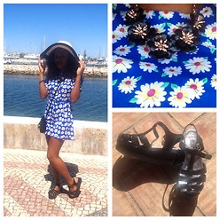 Keisha Dea - Oasis Playsuit, Oasis Necklace, Truffle Jelly Platforms - Si shade obrigado