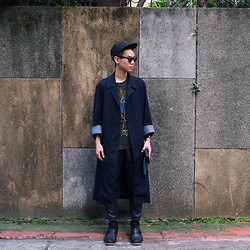 H. BOY - Vintage Coat, Vintage T Shirt, Dress Code Tw Leather Pants - THE WAY YOU SEE THE WORLD