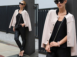 Czech Chicks - Céline Celine, Sheinside Blazer, Bracelet, Top, Heels, Pants, Bag - Dreaming in baby pink