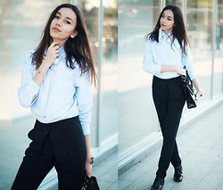 Bea G - Necklace, Pants, Shirt, Brogues, Bag - Think Twice
