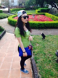 Kimbra Tien - Supreme Hat, 9five Sunglasses, Mango Tshirt, Zara Bag, Vans Shoes, Coach Ribbon - Flora