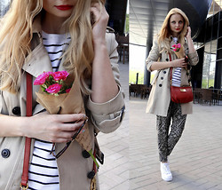 Violetta Privalova - Marc By Jacobs Bag, Asos Flatform Sneakers, Mango Trench Coat, Asos Sweater, New Look Pants - Love, Peace and Happiness!!!