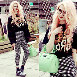 Kayla Hadlington - Topshop Socks, Paul's Boutique London Ltd. Bag - UNTOUCHABLES