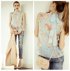 Tini Tani - By Tini Tani Top, Be Free Jeans, Love Republic Bag, Chic Wish Jacket - Pastel today