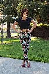 Xochitl -  - Thrifted High Waisted Tapered Pants
