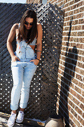 Camille Dg - Colcci Top, Simons Overalls, Converse White - Just like a teenager