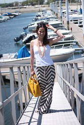 Anchored & Gray - Calypso St. Barth Ancilla Chevron Patterned Maxi Skirt - Coastal Chic