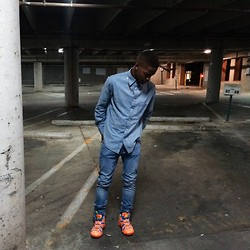 Marcus Byers - H&M Jeans, Adidas Sneakers - Denim.