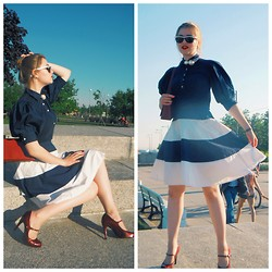 Kseniya Andreeva - Polo Ralph Lauren Skirt, Polo Ralph Lauren Shirt, Brunello Cucinelli Bag, Guess? Shoes - Coast