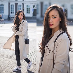 Levi Nguyen - Adidas Superstar, Same Here:, Duster Coat, Similar Here:, Leather Pants, Similar Here: - SUPERSTAR