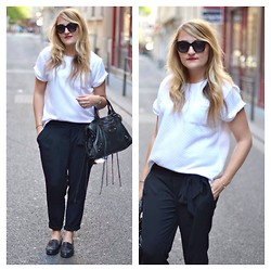 Paris Grenoble - Cache Top, Mango Pant, Balenciaga Bag, Zara Shoes, Marc By Jacobs Sunnies - Little perfect pant