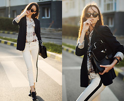 Bea G - Blazer, Shirt, Jeans, Shoes, Bag - Sweet Disposition