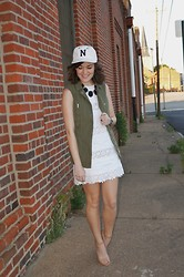 Niki Adams - J. Crew Hat, H&M Vest, J. Crew Dress, Forever 21 Shoes - Baseball.