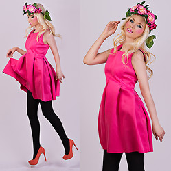Oksana Orehhova - Aliexpress Dress, Bershka Shoes, Frontrowshop Headband - FLOWER CANDY