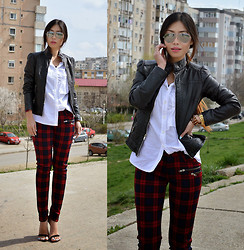 Cassandra Y. Liu - Trouser, Shirt, Leather Jacket - Leather Chic