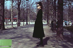 Violet Ell - Ann Demeulemeester Coat, Ray Ban Sunglasses, Dr. Martens Boots - --.03.2014