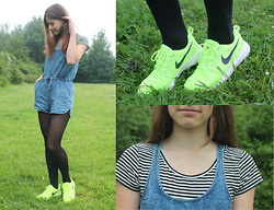Luna G. - Primark Playsuit, H&M Top, Nike Roshe Run - Roshe Run