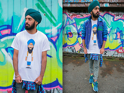 Pardeep Bahra -  - Vintage, Turbaned, Skater boy from London.