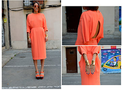 Isabella Pozzi - & Other Stories Dress, H&M Arm Cuff - Apricot