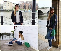 Paulina Kora - H&M Jacket, New Look Bag, Next Shirt, River Island Trousers, Boohoo Hat - Gold Skies!