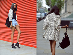 Natasha N - Topshop Embroidered Duster Jacket, Topshop Ankle Boots, Topshop Suede Backpack - Summer Festival Vibes