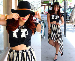 Audree Kate - Forever 21 Hat, Charlotte Russe High Low Skirt, Boy Meets Girl Tee, Charlotte Russe Spikes, Steve Madde Marlenee, Charlotte Russe Statement Necklace - Boy Meets Girl