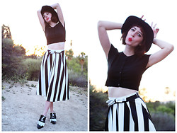 Amy Roiland - Chic Wish Skirt, Modern Vice Shoes - Stripes Today